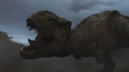 侏罗纪世界2霸王龙vs重爪龙vs迅猛龙