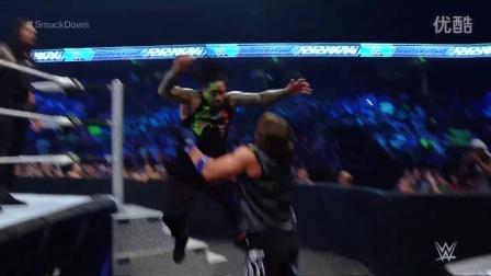 WWE2016罗曼雷恩斯VS魔域统帅卢克加洛斯