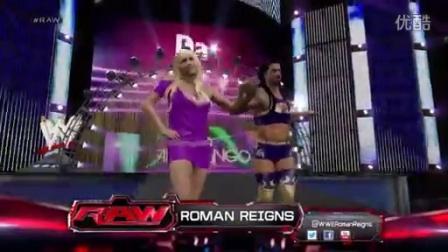 WWE罗曼雷恩斯模仿范登戈跳舞