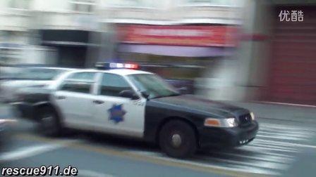 美国旧金山警车出警合集