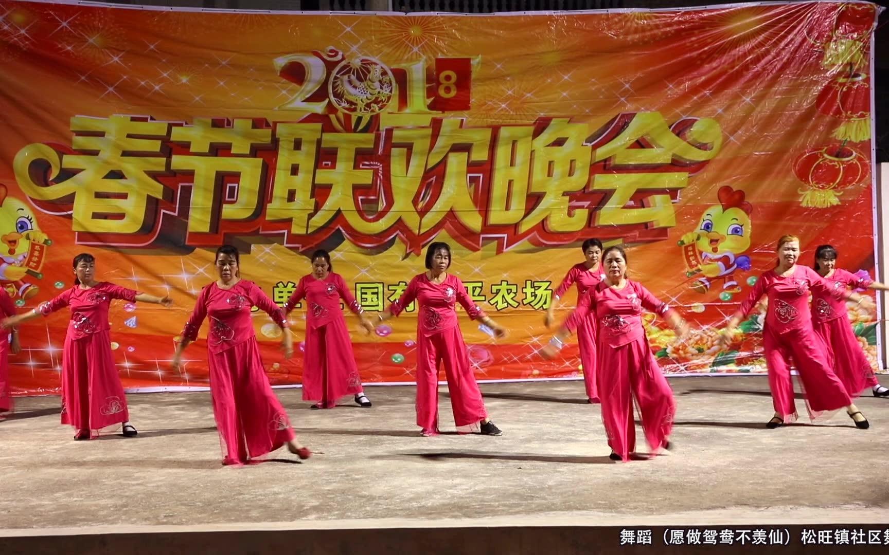 舞蹈(愿做鸳鸯不羡仙)松旺镇社区舞蹈队