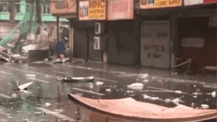 台风山竹正面掠过菲律宾后