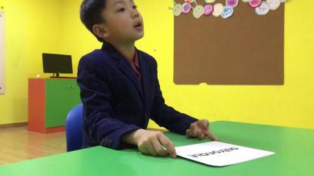 长沙励步英语 郡原校区 Js2 Kevin 李宇轩小朋友 期末测试视频
