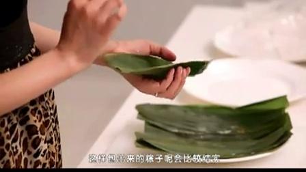 【家常菜谱做法】_端午节美食_红豆粽子的包法_菜谱_菜谱视频大全