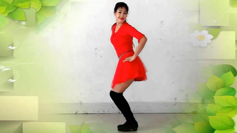 阿采广场舞《喜乐扬起新年到》新年系列附教学