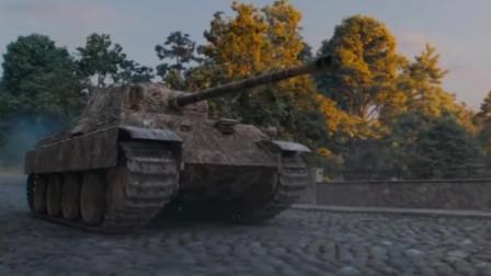 你打断我的履带,我打爆你的弹药架,t34和黑豹的较量