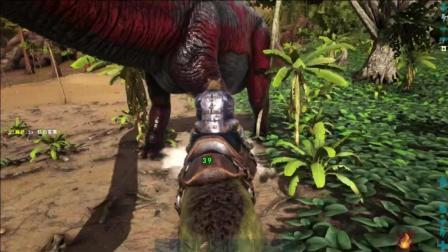 方舟生存进化 清水骑野猪屠杀恐龙