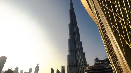 【迪拜旅行】哈利法塔下音乐喷泉 迪拜 我们再见