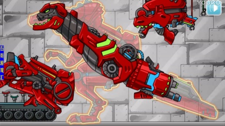 石页游戏汇:组装机械暴龙儿童解说益智网页小游戏