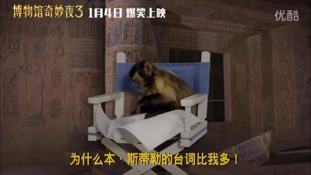 《博物馆奇妙夜3》发泼猴特辑 猴子闹罗宾哭大表哥帅狼叔客串无节操!