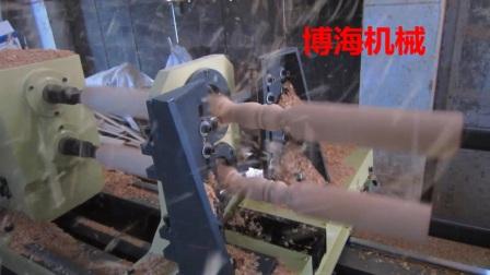 双轴四刀数控木工车床视频加工教程