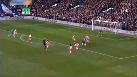 西甲联赛,切尔西VS阿森纳 阿扎尔上演半场奔袭一条龙