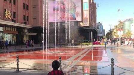 北京市百货大楼 音乐喷泉见