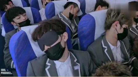 偶像练习生参加《快乐大本营》陈立农蔡徐坤的睡姿没谁了!