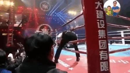 昆仑决现场!杨建平暴揍日本拳王