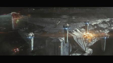 《星球大战8最后的绝地武士》浩瀚宏大的宇宙太空争斗