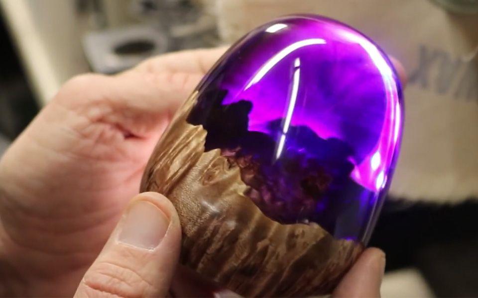 """【滴胶】从一块木头变成一颗剔透圆润的""""诺亚龙蛋"""""""