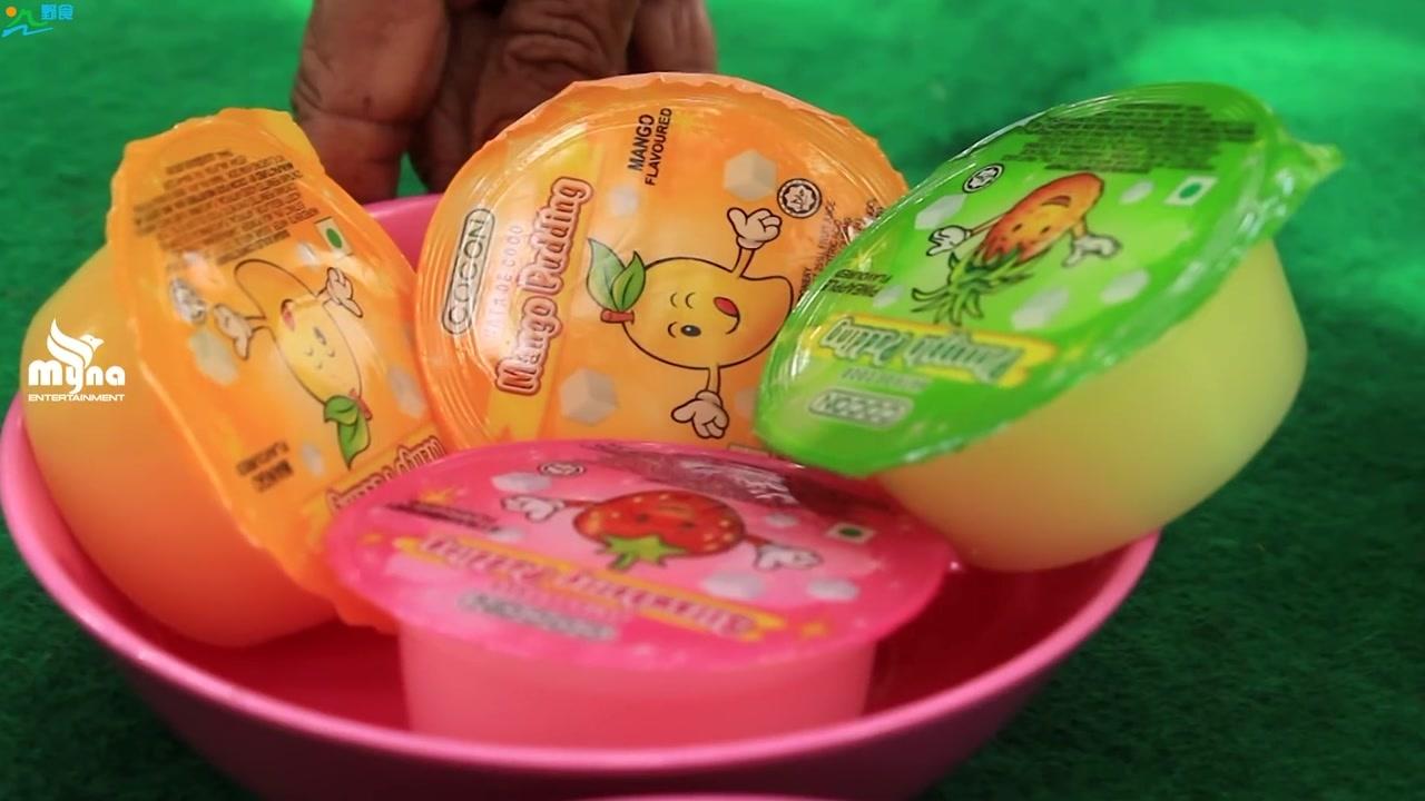芒果的别样做法,老奶奶教你简单制作芒果冰淇淋,看着味道好极了