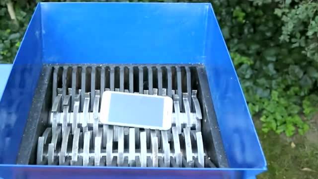 将iPhone手机和ipad平板丢进粉碎机会怎样?