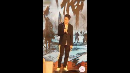 《战神纪》首映发布会李光洁喊话郭京飞雷佳音不要蹭他热度