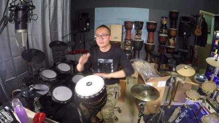 凯文先生《起风了》非洲鼓演奏箱鼓丽江手鼓卡宏鼓