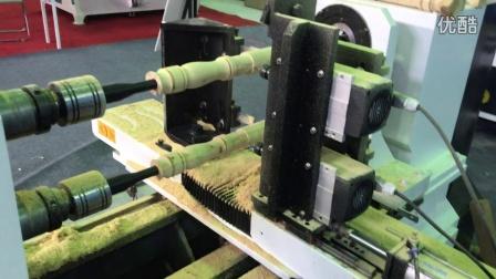 江苏盐城展会展示多功能数控木工车床视频——山东安泰数控