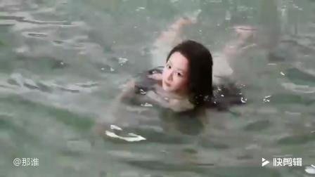 天乩之白蛇传说花絮:杨紫从小蛇幻化人形,原来是这么游泳的