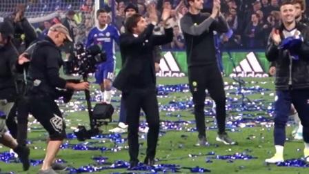 28轮切尔西对阵沃特福德赛后庆祝仪式