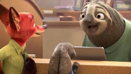 《疯狂动物城》国语电影树懒的微笑动物们的超可爱大都市