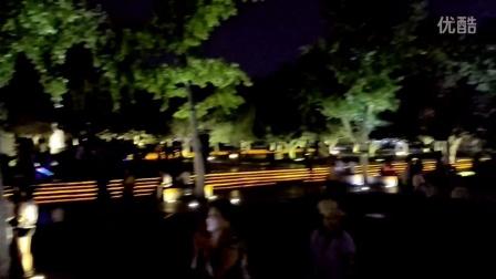 西安大雁塔音乐喷泉片段