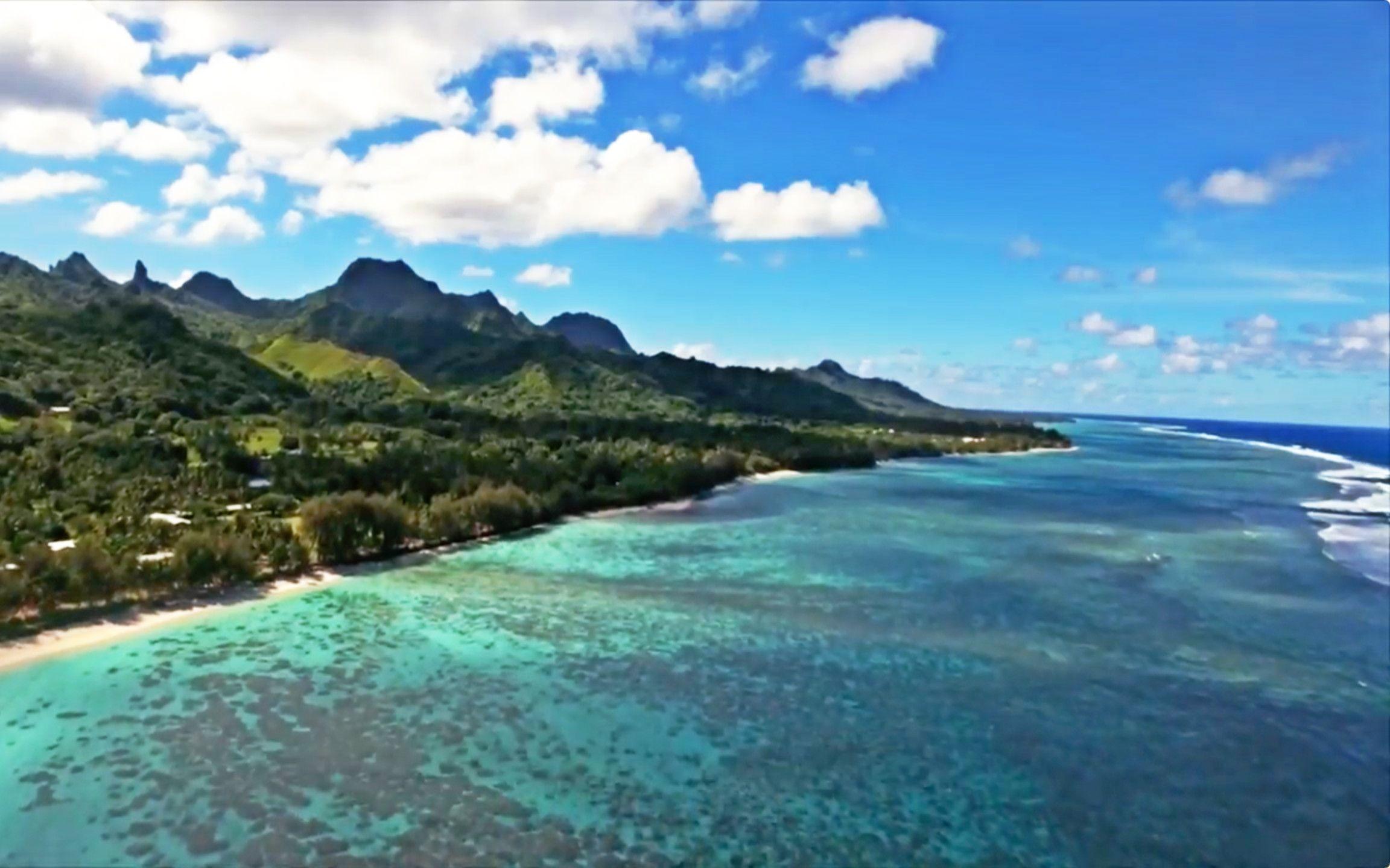 南太平洋库克群岛有天堂一样的美景 却因为气候变暖可能被淹没!