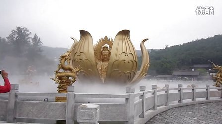 威海华夏城圣水观音音乐喷泉表演1