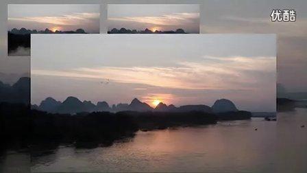 桂林山水篇《漓江磨盘山晚霞》