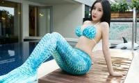 人鱼公主为爱化身,又长又白的美腿谁不喜欢!看田芯娜演绎出水之爱