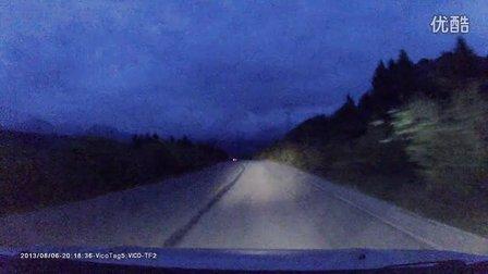长城哈弗M4川西边陲之旅D6:九寨沟返回松潘夜间突遇马儿横穿公路