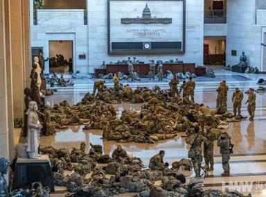 美国数千名国民警卫队士兵