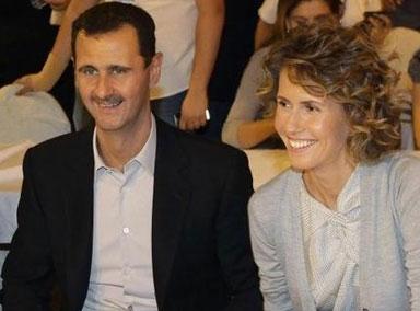 叙利亚:总统巴沙尔及其夫人
