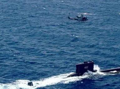 印尼军方潜艇在巴厘岛附近海域失联