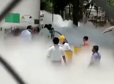 印度医院发生氧气储存罐泄漏事故