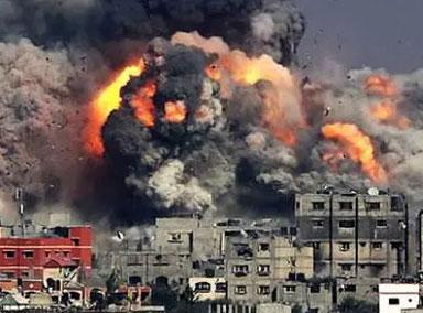 以色列:空袭击垮加沙大楼