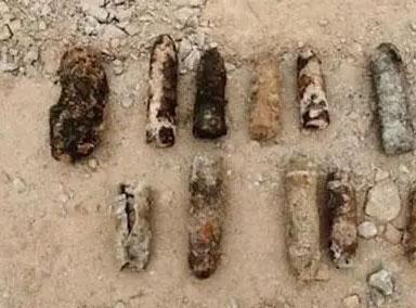 郴州火车站挖出17枚炮弹已销毁