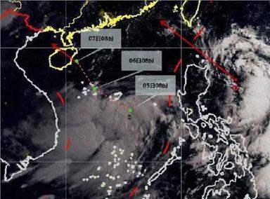 南海东南部热带低压即将生成